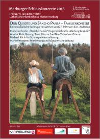 Plakatankündigung: Don Quijote und Sancho Pansa