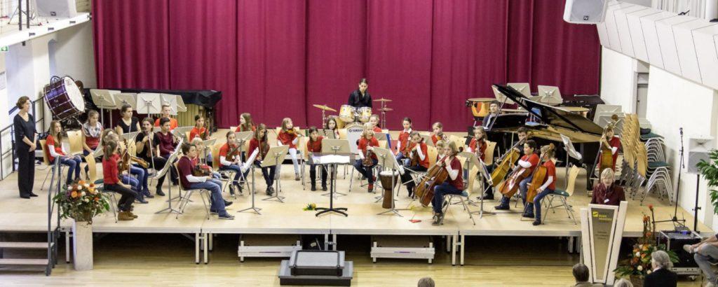 Foto Streicherbande beim Orchesterwettbewert des Landesmusikrats Hessen