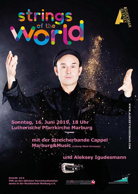 Plakatankündigung: Konzert Aleksey Igudesman am 16.06.2019